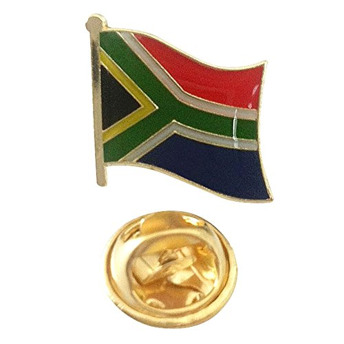 public of South Africa Flag Emblem Pin - Suid-Afrika Lapel Pin with Gold Butterfly Clasp for Suit Jackets, Collectors, and Bags (South African pin, 0.75
