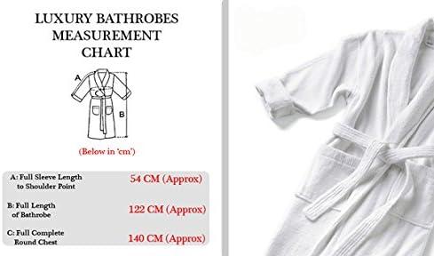 Spa Collection - Albornoz hecho 100 % de algodón egipcio rizado de ...
