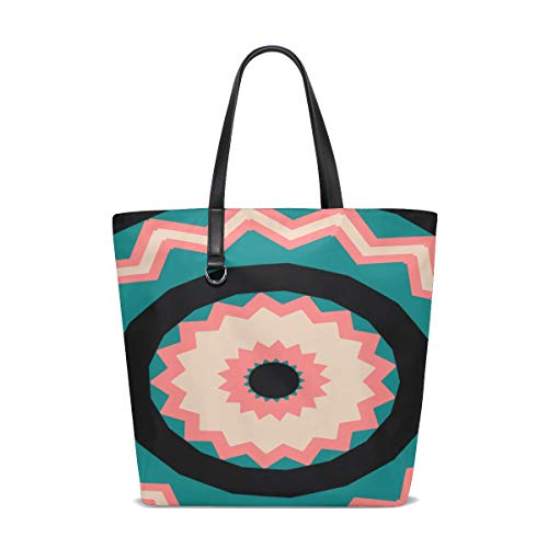 Women Mandala Pattern Ornament Decoration Ethnic Arabic Handle Satchel Handbags Shoulder Bag Tote Purse Messenger Bags