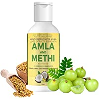 Vriddhi Organic Amla Hair Oil with Methi and Curry Leaves for Hair Growth, Reduce Hair Loss and Rejuvenate Follicles - 100 ML