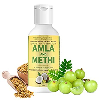 Sutra Health Care 100ml Organic Amla Hair Oil with Methi and Curry Leaves -  Natural Hair Growth-Oil to