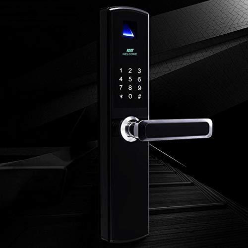 Electronic Smart Door Lock Smart Fingerprint Lock Fingerprint Password Swipe Key Combination Code Password Safe Entrance Lock Black