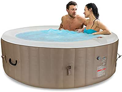 Jetstream Portable Inflatable Spa with Cover, 6 Person Seating Capacity