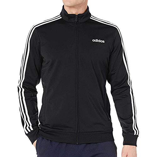 Full Zip Stripes 3 - adidas Men's Essentials 3-Stripes Tricot Track Jacket, Black/White, X-Large