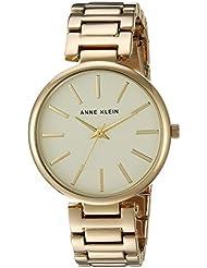 Anne Klein Womens AK/2786CHGB Gold-Tone Bracelet Watch