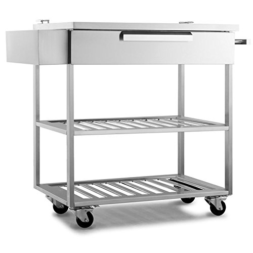 Cheap New Age 65007 Products Outdoor Kitchen 32″ Bar Cart in Stainless Steel Storage, Classic