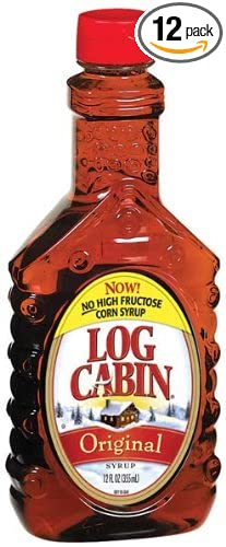 Attirant Log Cabin Original Pancake Syrup (430370) 24 Oz (Pack Of 12)