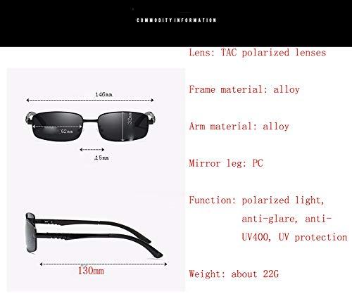 WJYTYJ Retro Gafas Sol Deportes Protección Conducción De De 1 Cuadrado Espejo Gafas Gafas Al Retro Polarizados Hombres Libre Conductor Aire UV Sol rwHz6r
