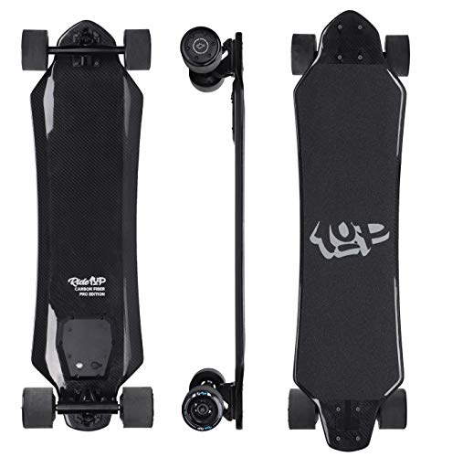 Ride1UP Carbon Fiber Pro Electric Skateboard. High Power 29MPH SPEED 14 LBS Full Carbon Fiber Deck!
