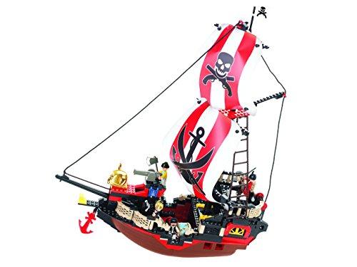 Sluban M38 B0127 LegoLarge Pirate Ship, Multi Colour