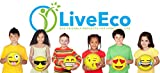 Emoji Inflatable Beach Balls (12-Pack) by LiveEco | Emoji Party Supplies for Birthdays, Party Favors, Games, Prizes, and more! | Made with Quality Child-Safe Eco-Friendly Materials