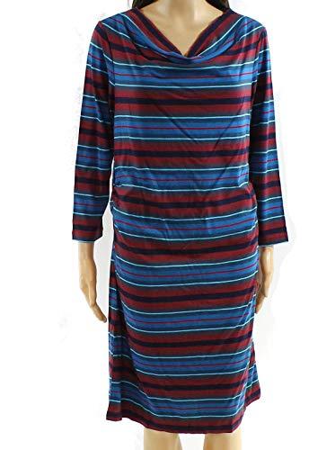 - Patagonia Kamala Cowl Neck Dress, Alba Stripe/Oxblood Red, LG (Women's 12-14)