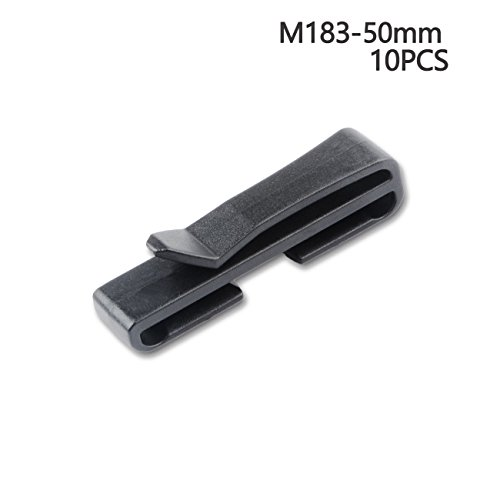 [Multi-size Webbing Clip Belt Clip Cam Buckle Plastic Toggle Clip (50 mm)] (Quick Release Slip)