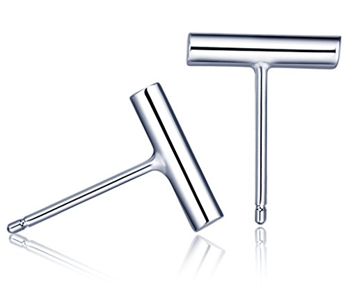 Simple Workplace Halloween Costumes (Infinite U Women's Unique Simple 925 Sterling Silver Bar Stud Earrings Silver)