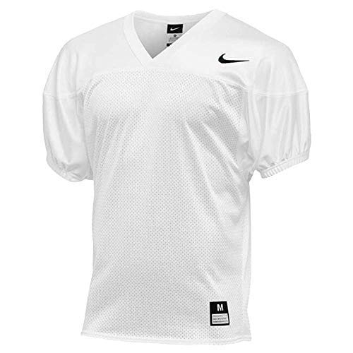 Nike Mens Stock Core Practice Football Jersey Team White/Black Size Large