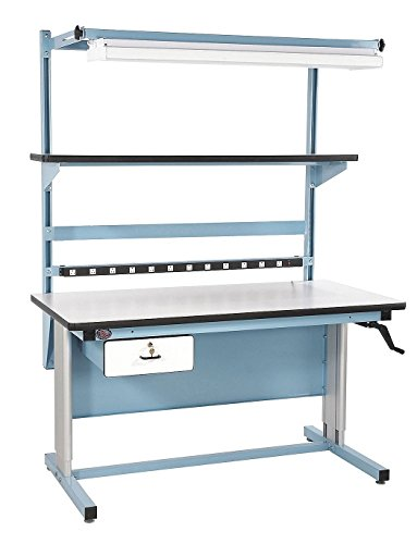 Esd Bench (Pro-Line BIB18 Complete Two Post Height Adjustable Bench with Accessories, 72