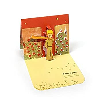 Amazon.com: Le Petit Prince Love Tarjeta de pop-up – Rose ...