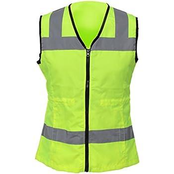 Utility Pro UHV662 Nylon High-Visibility Ladies Vest, Small, Lime