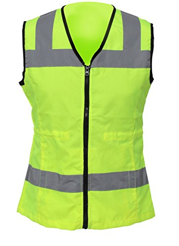 Utility Pro UHV662 Nylon High-Visibility Ladies Vest, Small, Lime (String Teflon)