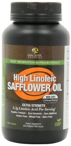 Genceutic Naturals High Linoleic Safflower Oil, 224 Count, Health Care Stuffs