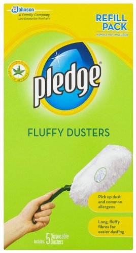 Pledge Fluffy Duster Refills x5 (Pack of 4)