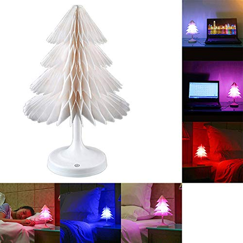 7 Color Christmas Xmas Tree Fiber Optic Led Night Light in US - 9
