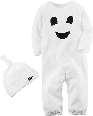 Bebe Niño Halloween Disfraz Esqueleto Peleles de Manga Larga + ...