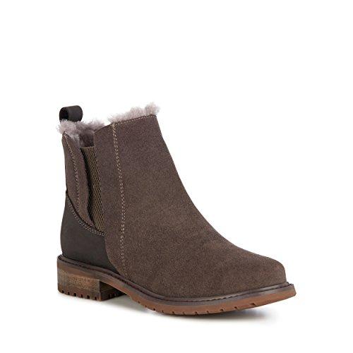 EMU Australia Pioneer Womens Deluxe Wool Waterproof Boots in Charcoal