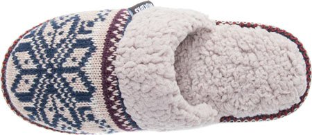 MUK LUKS Womens Fairisle Knit Scuff,Tan,US S M