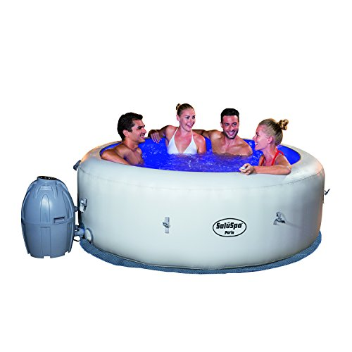 (SaluSpa Paris AirJet Inflatable Hot Tub w/ LED Light Show)