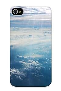 Hot Tpu Cover Case For Iphone/ 4/4s Case Cover Skin Design - Sunlit Clouds