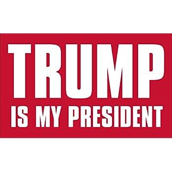American vinyl trump is my president sticker pro donald bumper
