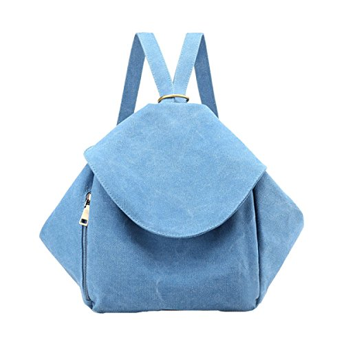 Moda Mini Universidad Mochila Escuela Hombro Bolso Mochila Mochila Para Las Mujeres Chica Multicolor Blue2