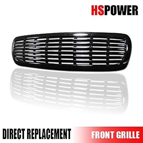 (HS Power Black Finished Horizontal Billet Front Hood Bumper Grill Grille ABS 1997-2004 for Dodge Dakota/Durango)