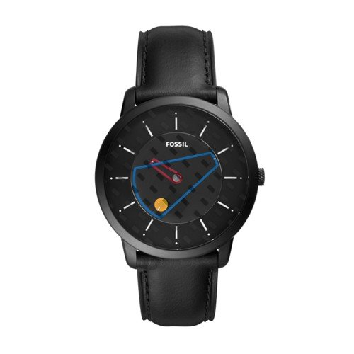 The Minimalist Three-Hand Black Leather Watch