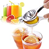 IndiaBigShop Lemon Lime Juicer Citrus Squeezer Hand Press with High Strength and Heavy Duty Design, Press Juice from Fruit or Vegetables