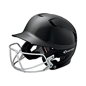 EASTON Z5 Junior Batting Helmet with Baseball Softball Mask | 2019 | Black | Unisex | Dual Density Shock Absorption Foam | High Impact Resistant ABS Shell | Moisture Wicking BioDRI liner