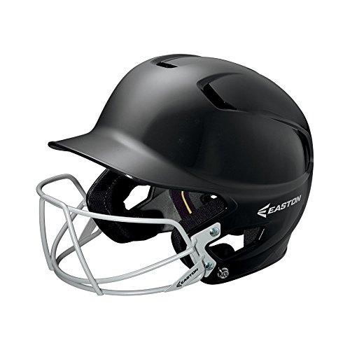 - EASTON Z5 Junior Batting Helmet with Baseball Softball Mask | 2019 | Black | Unisex | Dual Density Shock Absorption Foam | High Impact Resistant ABS Shell | Moisture Wicking BioDRI liner