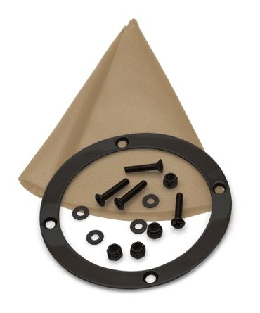 American Shifter 400802 Shifter TH400 8 Trim Kit BLK Push Button TN Boot Ringed Knob for D6237