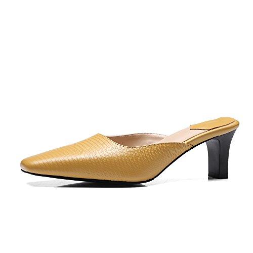 Nine SevenSlippers - Sandalias con cuña mujer amarillo