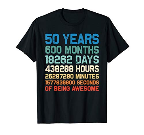 Vintage 1969 50th Birthday 50 Yrs Old 600 Months TShirt Gift