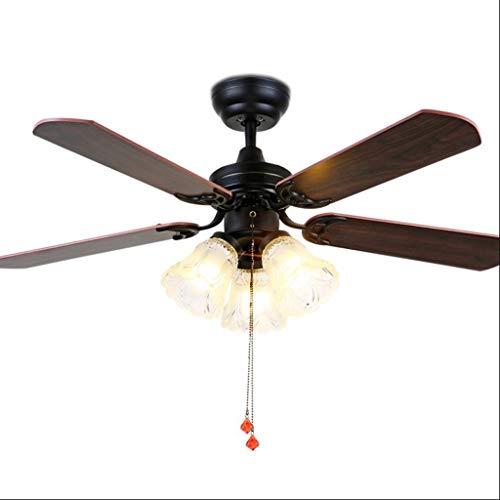 Haodan electronics Ceiling Fans American Retro Ceiling Fan Light Industrial Wind Power Fan Light Restaurant Drawstring Electric Fan Chandelier 36 Inch/ 42 Inch Ceiling Fan Light (Size : [36 inch])