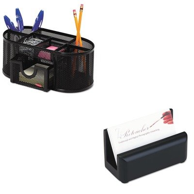 kitrol1746466rol62522-value-kit-rolodex-wood-tones-business-card-holder-rol62522-and-rolodex-mesh-pe