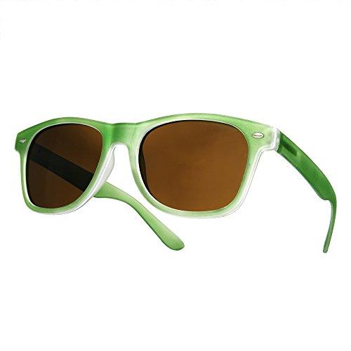 Verde con negro Gafas sol ahumados ochentero TM diseño Negro de unisex 4sold cristales IOqx7SwZC