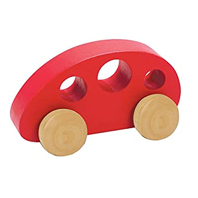 Hape Mini Van Wooden Toddler Toy Vehicle in Red: Toys & Games