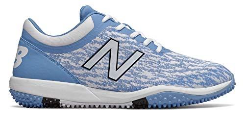 New Balance Men's 4040v5 Turf Track and Field Shoe, Baby Blue/White, 10 2E US