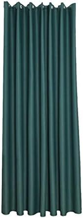 B Blesiya 窓カーテン ウィンドウ ドレープ 必備品 遮光 断熱 取り付け簡単 多種類選べる - グリーン, 100x130cm