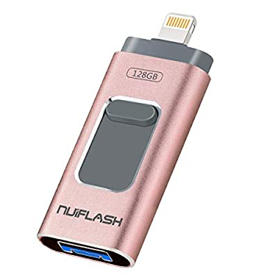 USB Drive 128GB Flash Drive [3in1] Thumb Drive for iPhone NUIFLASH iPhone Photo Stick for iPhone 6/6S/7/8/X/XS/XR/11 Memory Stick Compatible Android iOS Windows by NUIFLASH