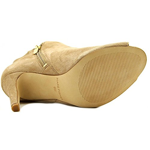 Marc Fisher Femmes Smash Daim Peep-toe Bottines Beige 8 Moyen (b, M)