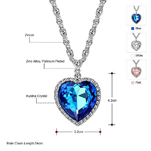 c52b1ad9f Steve Sasco Designs Titanic Heart Necklace Replica from Original Movie